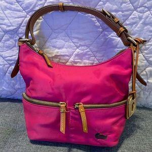 Dooney & Bourke Fuchsia nylon mini shoulder bag